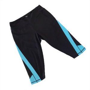 Nola Black with Blue Activewear Crops, 1X